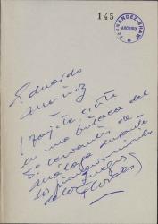 Cartas de Eduardo Muñoz García a Carlos Fernández Shaw.