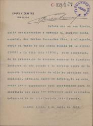 Cartas de Carlos Correa Luna a Carlos Fernández Shaw.
