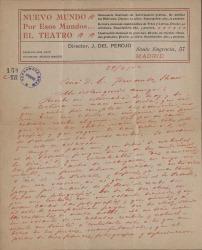 Cartas de José del Perojo a Carlos Fernández Shaw.