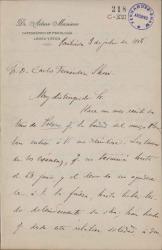 Cartas de Arturo Masriera a Carlos Fernández Shaw.