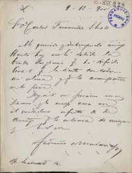 Cartas de Federico de Madariaga a Carlos Fernández Shaw.