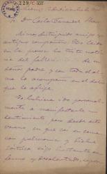 Cartas de José de Siles a Carlos Fernández Shaw.