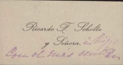 Cartas de Ricardo F. Scholtz a Carlos Fernández Shaw.