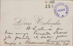Cartas de Luis Taboada a Carlos Fernández Shaw