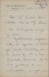 Cartas de Luis Cambronero a Cecilia Iturralde, viuda de Carlos Fernández Shaw.