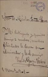 Cartas de Vicente García Valero a Carlos Fernández Shaw.