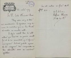 Cartas de Rufino Blanco a Carlos Fernández Shaw.