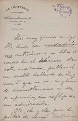 Cartas de Joaquín López Barbadillo a Carlos Fernández Shaw.