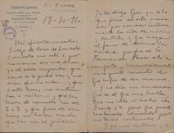 Cartas de Enrique Casal a Carlos Fernández Shaw.