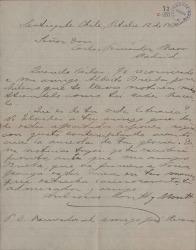 Cartas de Ambrosio Montt y Montt a Carlos Fernández Shaw.