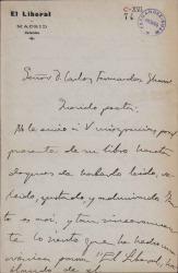 Cartas de Pedro de Répide a Carlos Fernández Shaw.