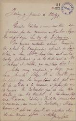 Cartas de Antonio Peña y Goñi a Carlos Fernández Shaw.