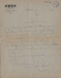 Cartas de Enrique de Mesa a Carlos Fernández Shaw.