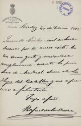 Cartas de Rafael de la Viesca a Carlos Fernández Shaw.