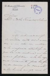 Cartas de Francisco Silvela a Carlos Fernández Shaw y Daniel Iturralde.