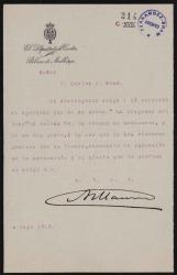 Cartas de Antonio Maura a Carlos Fernández Shaw y Cecilia Iturralde, su esposa.