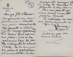 Cartas de Prudencio Rovira a Carlos Fernández Shaw.