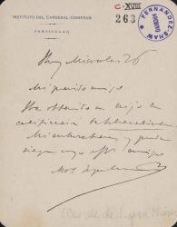 Cartas de Antonio López Muñoz, Conde de López Muñoz, a Carlos Fernández Shaw.
