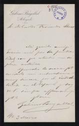 Cartas de Gabino Bugallal a Carlos Fernández Shaw y Cecilia Iturralde, su esposa.