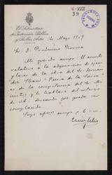 Cartas de Cesar Silió a Prudencio Rovira.