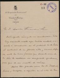 Cartas de Jesús Méndez Risueño a Carlos Fernández Shaw.