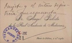 Cartas de Ángel Pulido a Carlos Fernández Shaw.