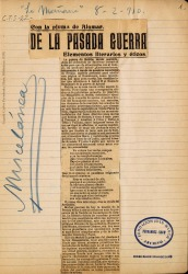 Cuaderno 22 (1910). Artículos de diversos autores.