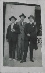 Fotografía de Guillermo Fernández-Shaw, Jesús Guridi y Federico Romero.