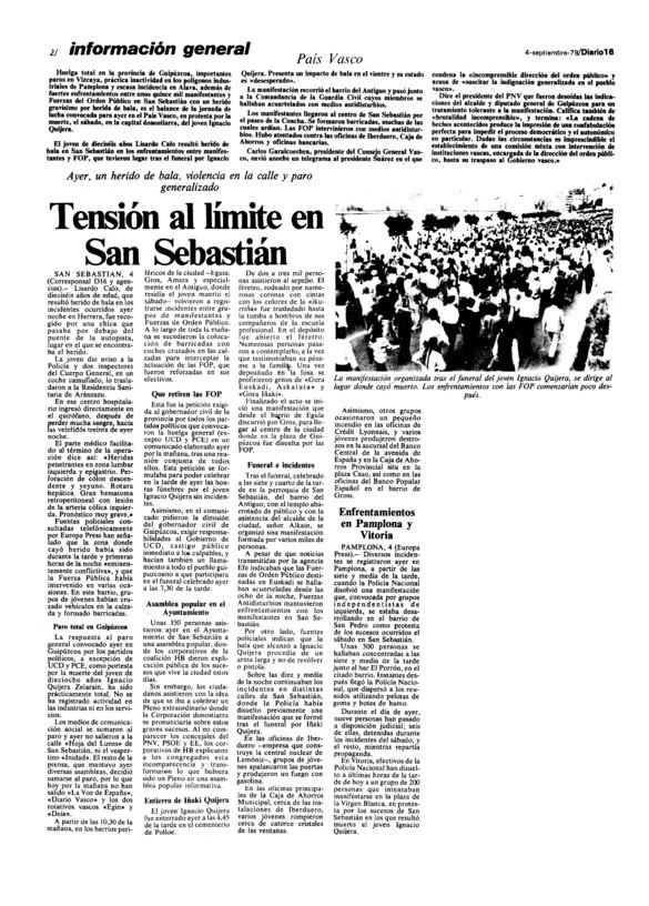 Tensión al límite en San Sebastián - Archivo Linz de la Transición española    Fundación Juan March