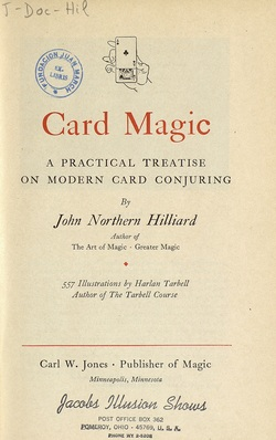 See book details: CARD MAGIC: A PRACTICAL TREATISE ON MODERN CARD CONJURING