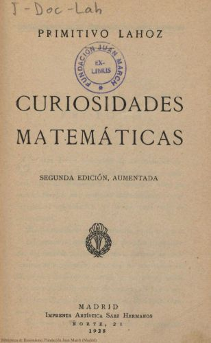 Libro : Curiosidades matemáticas