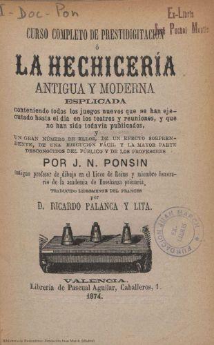 Book : Curso completo de prestidigitación o La hechicería antigua y moderna esplicada