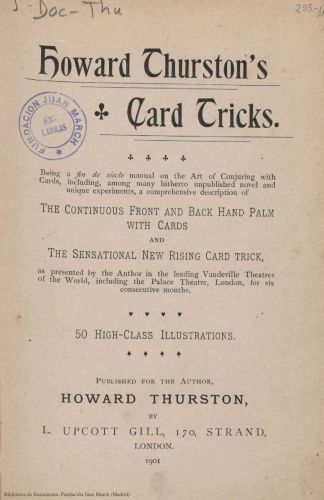 Book : Howard Thurston's card tricks