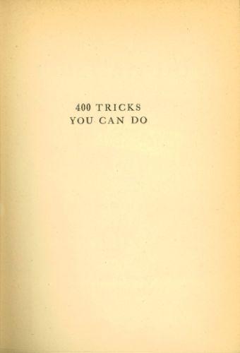Book : 400 tricks you can do