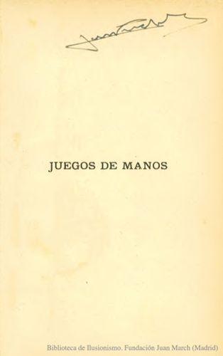 Book : Juegos de manos : manual para aficionados