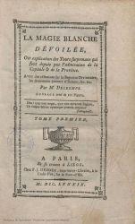 Ver ficha del libro: LA MAGIE BLANCHE DÉVOILÉE, OU EXPLICATION DES TOURS SURPRENANS