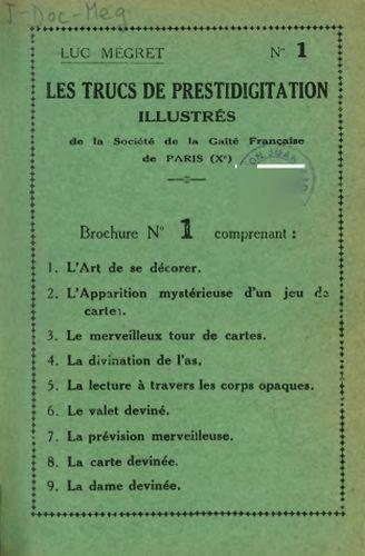 Book : Les trucs de prestidigitation illustrés