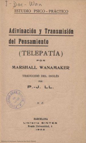 Book : Adivinación y transmisión del pensamiento: (telepatía)