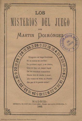 Book : Los misterios del juego: descripción breve, exacta e imparcialísima
