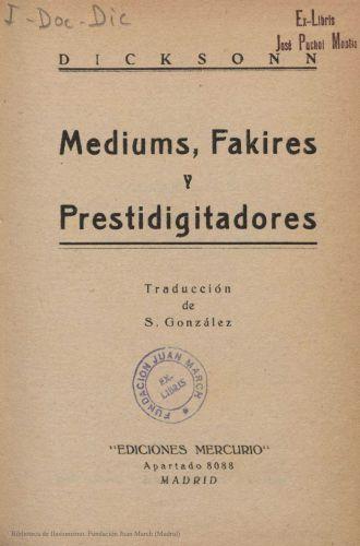Book : Mediums, fakires y prestidigitadores