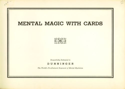 Book : Mental magic with cards