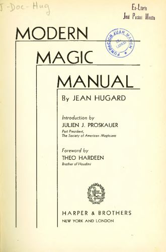 Book : Modern magic manual