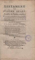 Ver ficha del libro: TESTAMENT DE JÉRÔME SHARP