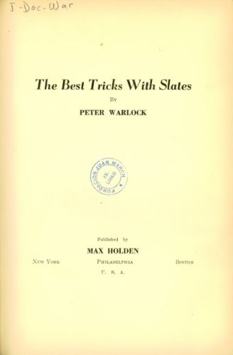 Book : The best tricks with slates