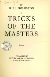 Ver ficha del libro: TRICKS OF THE MASTERS