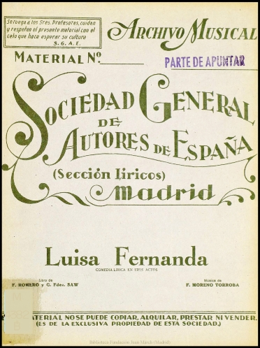 zarzuela luisa fernanda partitura pdf download
