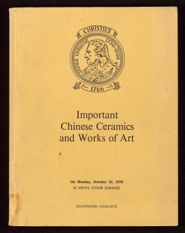 Catalogue of important Chinese ceramics, archaic brozes and sculpture