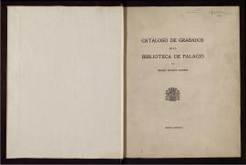 Catálogo de grabados de la Biblioteca de Palacio