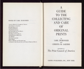 A Guide to the collecting and care of original prints
