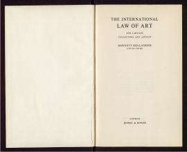 The International law of art